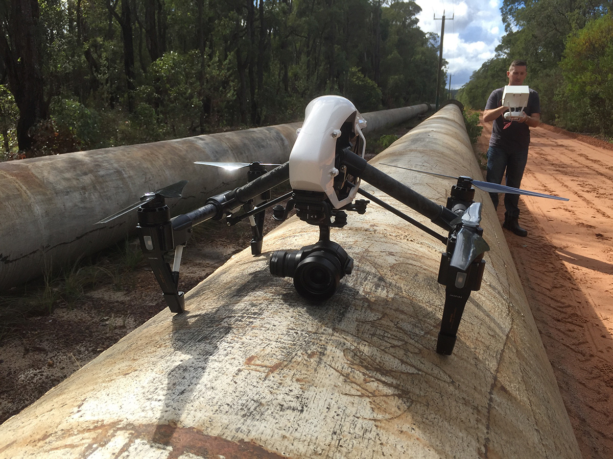 perth drone services asset pipeline inspections